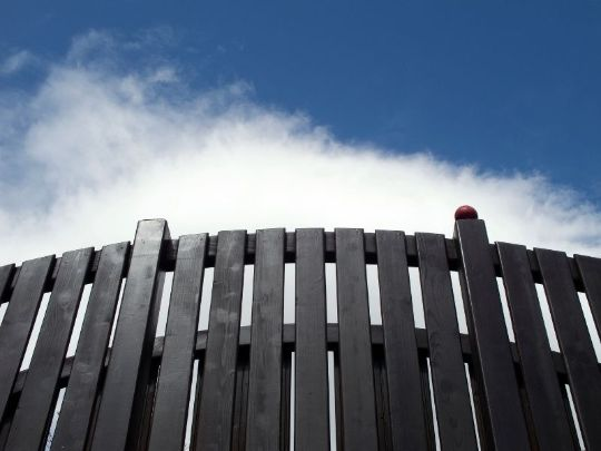 black-stained wooden (timber) fence by Hervey Bay Fencing Pros