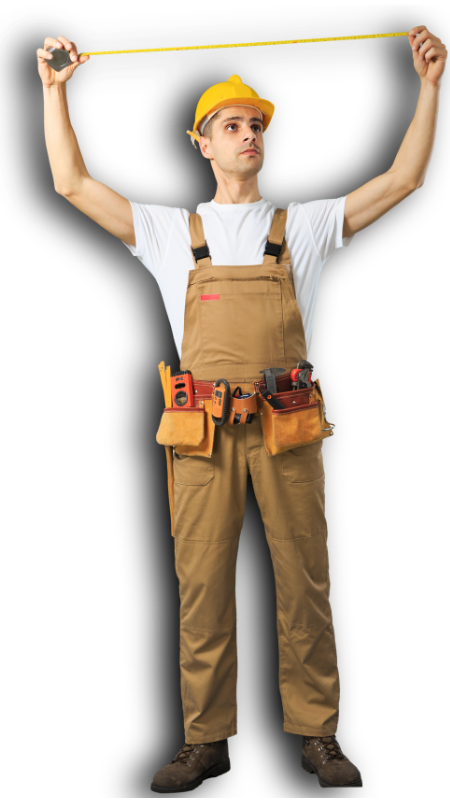 A hervey bay employee with yellow measuring tool | Hervey Bay Fencing Pros